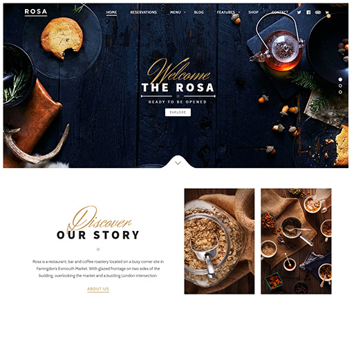 bar wordpress theme - Rosa