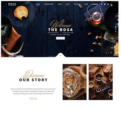 bar wordpress theme - Rosa