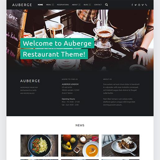 bar wordpress theme - auberge