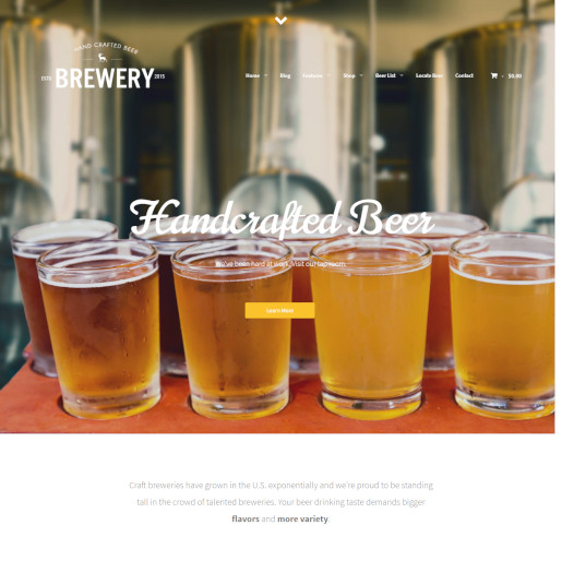 bar wordpress theme - brewery