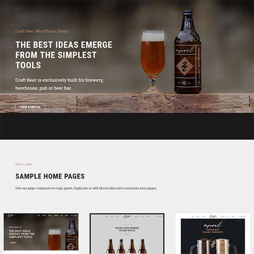 bar wordpress theme - craft