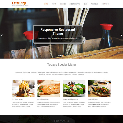 bar wordpress theme - eaterstop lite