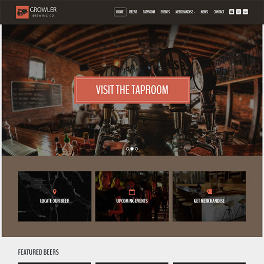 bar wordpress theme - growler