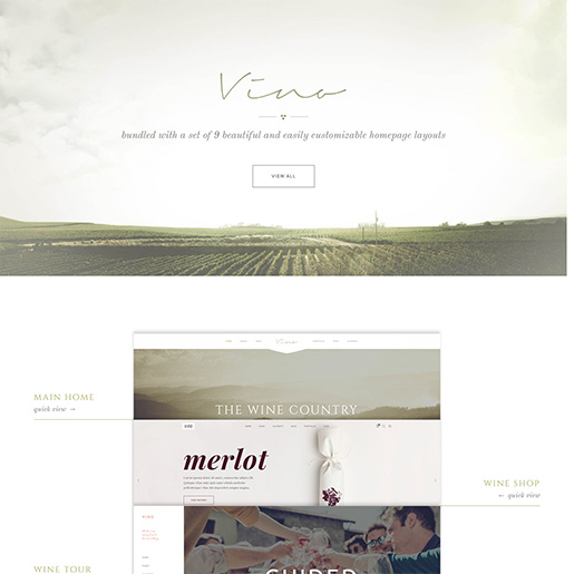 bar wordpress theme - vino