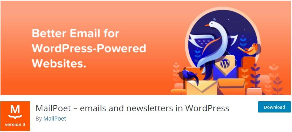 mailpoet wordpress newsletter plugins