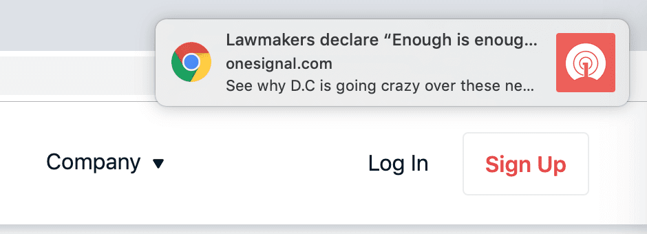 Web push notifications WordPress.